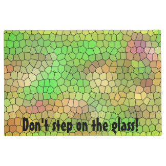 Fun Green Stained Glass Design Doormat