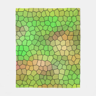 Fun Green Stained Glass Design Fleece Blanket