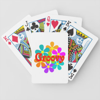 Fun Groovy Flowers Bicycle Playing Cards