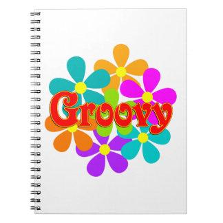 Fun Groovy Flowers Notebook