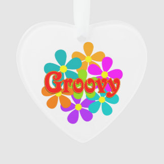 Fun Groovy Flowers Ornament