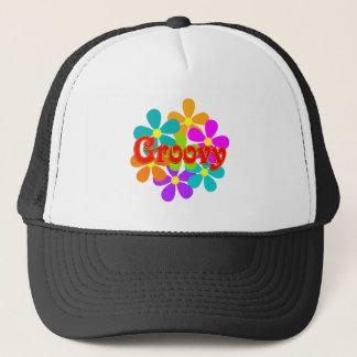 Fun Groovy Flowers Trucker Hat