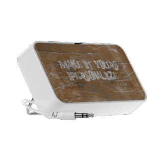 Fun Grunge Rust Doodle Speakers OrigAudio