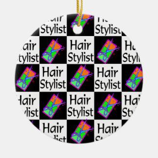 FUN HAIR STYLIST CHRISTMAS ORNAMENT