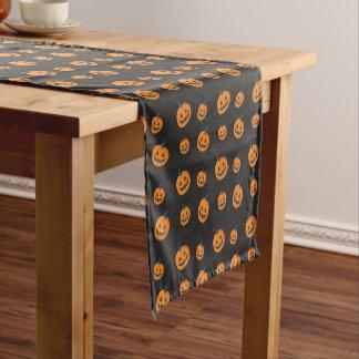 Fun Halloween Jack-O-Lanterns Pattern Short Table Runner