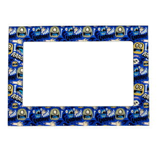 Fun Halloween Monster Pattern Magnetic Picture Frame