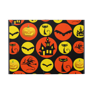 Fun Halloween Polka Dot Pattern Haunted House iPad Mini Case