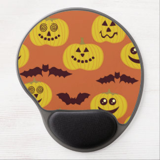 Fun Halloween Pumpkin Bat Design Gel Mouse Pad