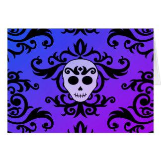 Fun Halloween skull Card