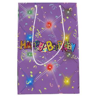 Fun Happy Birthday Confetti Medium Gift Bag