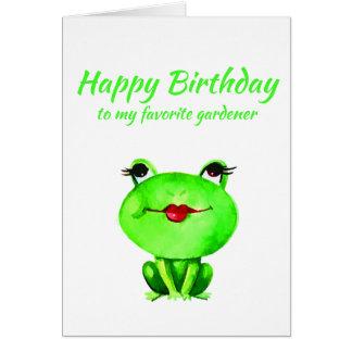Fun Happy Birthday Gardener Toadally Awesome Hobby Card