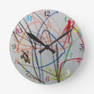fun happy colorful clock