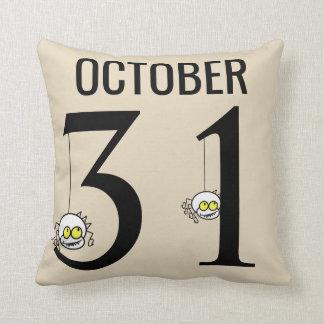 Fun Happy Halloween October 31st Throw Pillow
