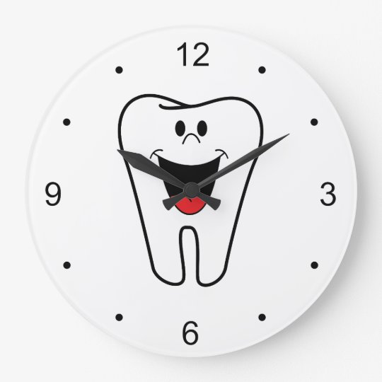 Fun Happy Smiling Tooth for Dentists Clocks