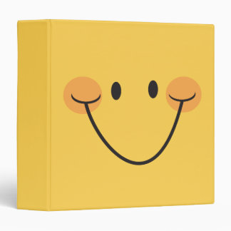 Fun happy yellow smiley binder/organizer binders
