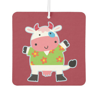 Fun Hawaiian Shirt Cartoon Cow Air Freshener