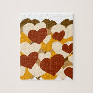 Fun heart design jigsaw puzzle