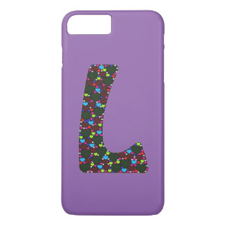 "Fun Hearts Monogram ""L""  iPhone 7/6 Plus case"