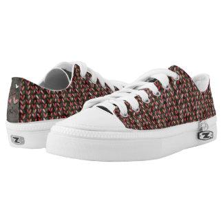 Fun Hearts Pattern Shimmer Low-Top Sneakers