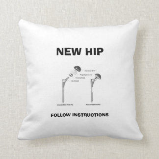 Fun Hip Surgery - Assembly Required Throw Pillow