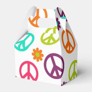 Fun Hippie Peace sign pattern favor box