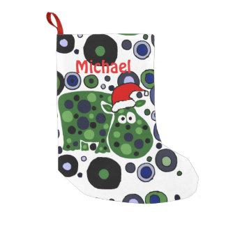 Fun Hippo Art Abstract Christmas Stocking