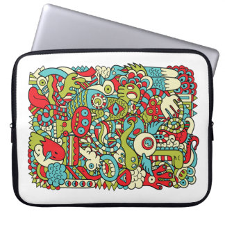 Fun Hipster Doodle Laptop Sleeve