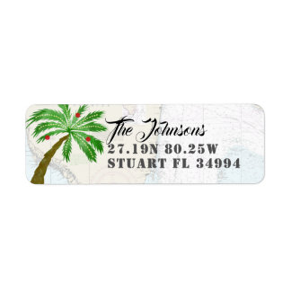 Fun Holiday Palm Tree Latitude Longitude Nautical