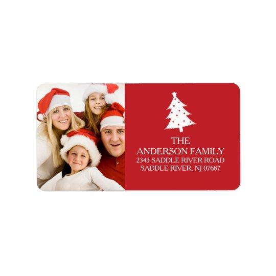 Fun Holiday PHOTO Return Address Label