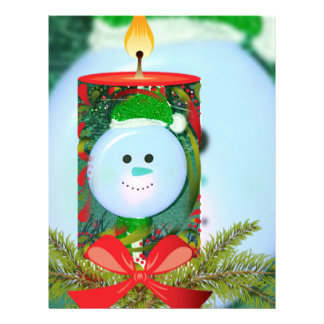 Fun Holiday Spirit Candle Overlay Letterhead
