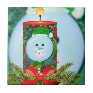 Fun Holiday Spirit Candle Overlay Tile