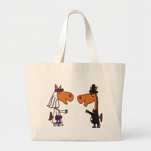 Fun Horse Bride and Groom Wedding Design Bag