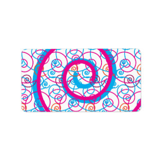 Fun Hot Pink and Teal Blue Spiral Pattern