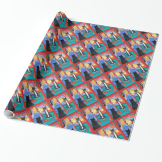 Fun House Skinny Cat Wrapping Paper