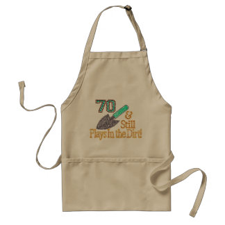 Fun Humor Gardening 70th Birthday Gift for HER HIM Standard Apron