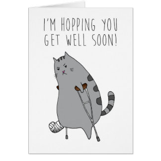 Fun Humor Get Well Feel Better Broken Bone Card
