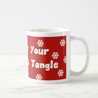 Fun Humour Winter Holiday Tinsel Mug