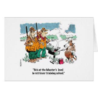 Fun hunting theme invitation to a bar-b-que greeting card