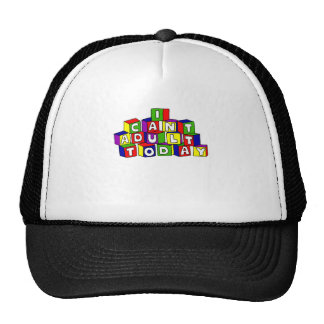 Fun I Can't Adult Today Building Blocks Trucker Hat