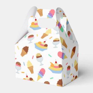 Fun ice cream party pattern favor box