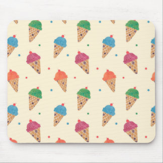Fun Ice Cream Pattern Mouse Pad