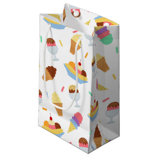Fun ice cream pattern party bag