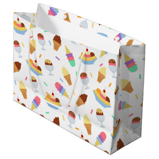 Fun ice cream pattern tiled party bag
