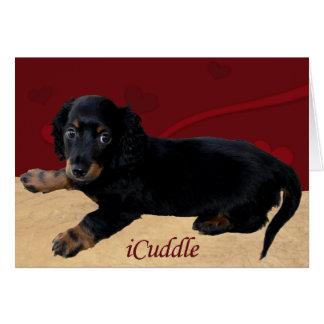 Fun iCuddle Long Hair Dachsund Card