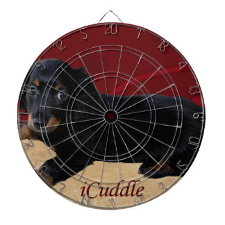 Fun iCuddle Long Hair Dachsund Dartboard