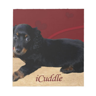 Fun iCuddle Long Hair Dachsund Notepad