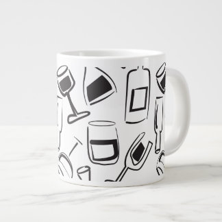 Fun Illustrated Wine Mug