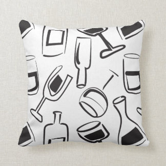 Fun Illustrated Wine Pillow