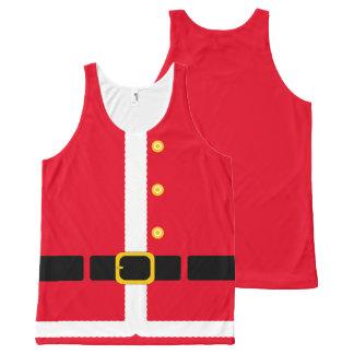 Fun imitation Christmas Santa Suit costume… All-Over-Print Tank Top
