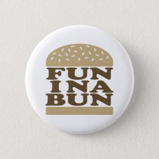 Fun in a Bun 2 Inch Round Button
